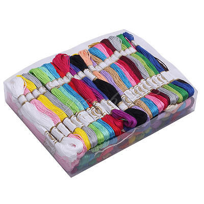 100x Skeins Colored Embroidery Thread Cotton Cross Stitch/Braiding/Craft Sewing