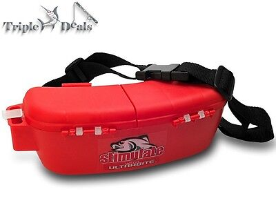 New Stimulate Bait Bucket with Belt - Waist Fishing Tackle Box with Dividers