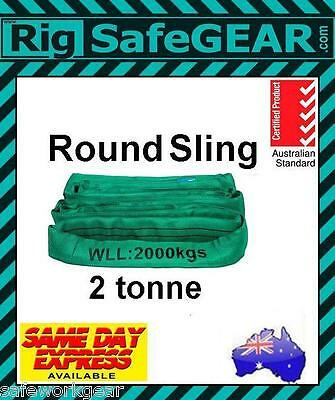 2 TONNE Round Lifting Sling Various Lengths 100% Polyester Spanset / Auslift