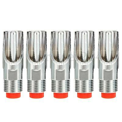 5Pcs Stainless Steel 1/2PT Thread Pig Automatic Nipple Drinker Waterer New