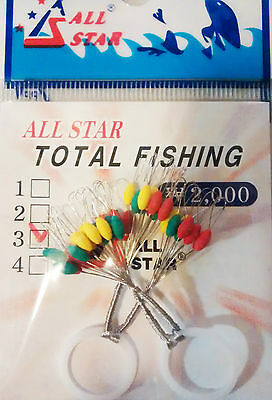 Rubber float stoppers for fishing (40 per packet)