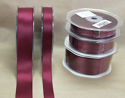 Double Sided Satin Ribbons for School Uniform  MAROON - 5 WIDTHS