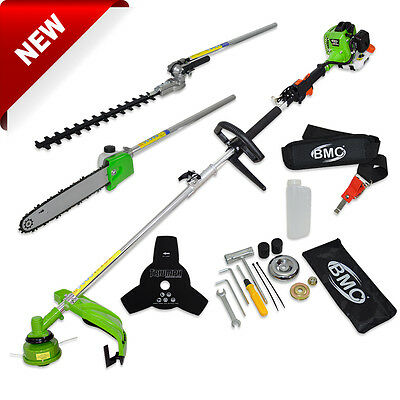BMC Wolf 26cc Petrol Hedge Trimmer Brush Cutter Strimmer Chainsaw Multi Function