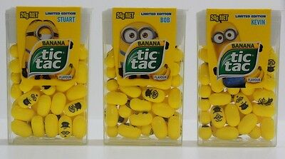 3 x MINION TIC TAC 24g - FAST & FREE POST - YELLOW KIDS PARTY LOLLIES