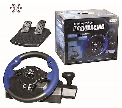 Volante PLAYSTATION 3 - PC  USB FORCE RACING XTREME STEERING WELL CON VIBRAZIONE