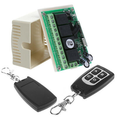 DC 14V 4CH Wireless Remote Control 315MHz Relay Switch 2 Transceiver + Receiver