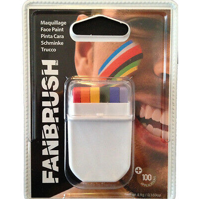 Gay Pride/ Rainbow Fan Brush Face Paint Make-Up Accessory