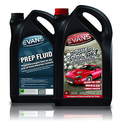 EVANS WATERLESS COOLANT POWER COOL 180 & PREP FLUID TWIN PACK - Toyota