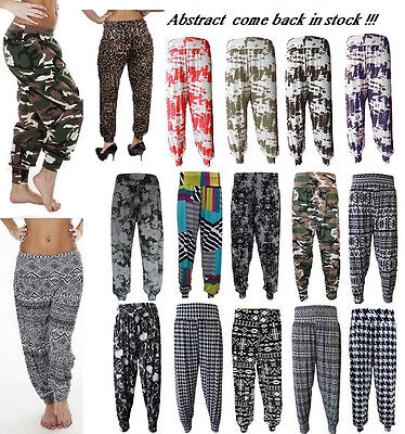 8a58da02dc8 Women Printed Hareem Ali Baba Cuffed Bottom Baggy Trouser Pants Plus Size 8- 26