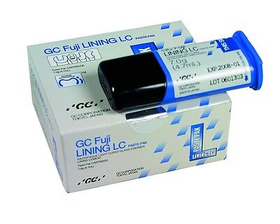 Dental 2 x GC Fuji Lining LC Paste Pak Light Cured Glass Ionomer Cement 7.0g