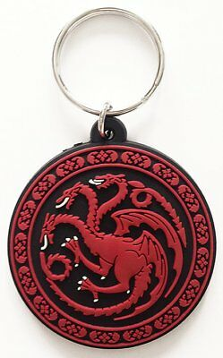 Game Of Thrones Targaryen Dragon Sigil TV Show Rubber Keyring Keychain Official