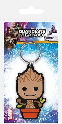 Guardians Of The Galaxy Baby Groot Movie Film Rubber Keyring Keychain Official