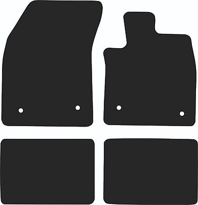 Ford Focus (2011 to 2014) Tailored Black 3mm Rubber Car Floor Mats Set of 4