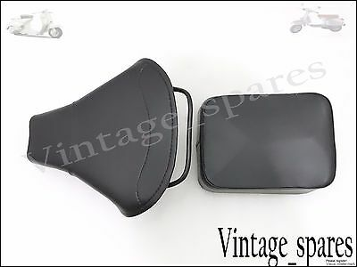 Vespa Brand New Front & Rear Complete Black Seat  Set Vbb/super/px/rally