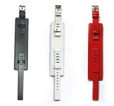 14 mm Premium Leather Watch Strap with Leather Cuff + Stiching - 17