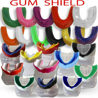Boxing Gel Junior Gum Shield Kids Mouth Guard Teeth Protector Box Pack 5 Colors