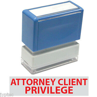 """JYP PA1040 Rectangle Stock Pre-Inked Rubber Stamp w. """"Attorney Client Privilege"""""""