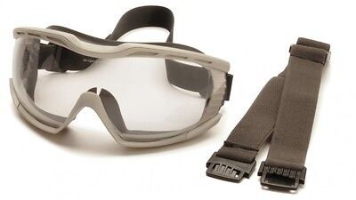 Pyramex Capstone 600 Series Chemical Splash Safety Goggles Clear AF Lens Glasses