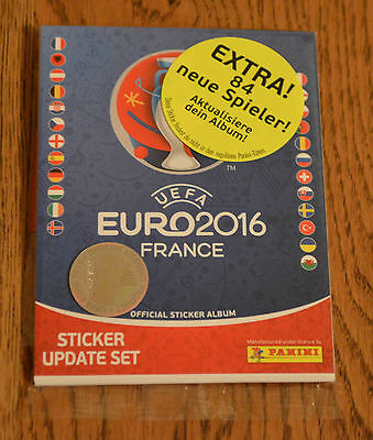 Panini EM Euro 2016 France Update Set Multipack 84 Sticker Nachnominierungen OVP