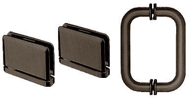CRL Oil Rubbed Bronze Prima Shower Pull and Hinge Set