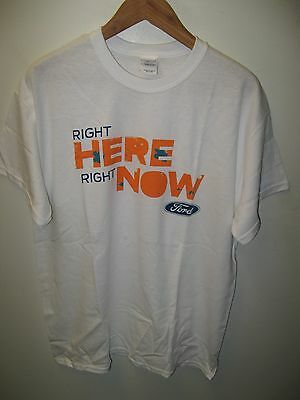 Ford Motor Company American Automobile Car Right Here Right Now Logo T Shirt Lrg