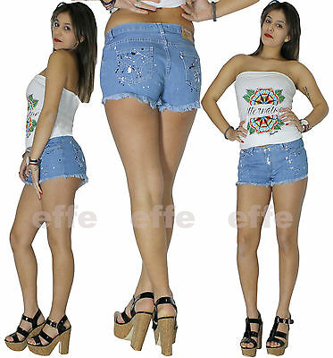 Shorts woman shorts slim jeans members effect painting