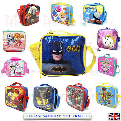 Disney Children's Kids Boys Girls Insulated Lunch Bag LOL PJ School Lunch Box