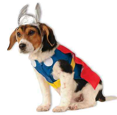 Thor Marvel Avengers Superhero Fancy Dress Up Halloween Pet Dog Cat Costume