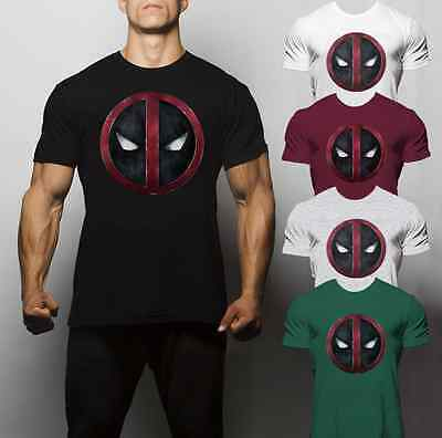 Deadpool T Shirt Training Crossfit Fit Summer Running Workout Muscle Superman