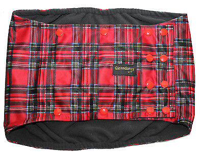 Waterproof Tartan Dog Belly Band Nappy / Urine Marking /incontinence - Poppers