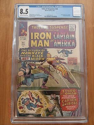 TALES OF SUSPENSE #64 CGC 8.5 FIRST APP. BLACK WIDOW IN COSTUME Off White/White