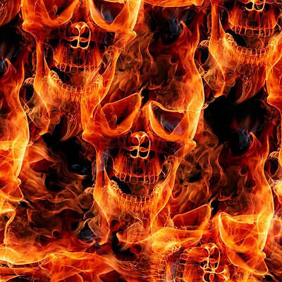 Hydrographic Water Transfer Hydrodipping Film Hydro Dip Flaming Fire Skulls