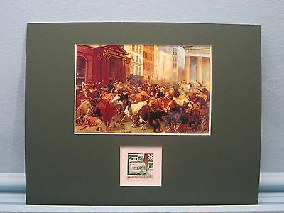 Wall Street & the New York Stock Exchange and the stamp for the 1929 Stock Crash