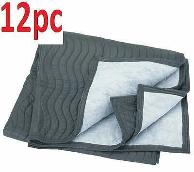 """Set of12 40""""x72"""" Mover's Blanket Furniture Moving Supplies Double Stiched Fabric"""