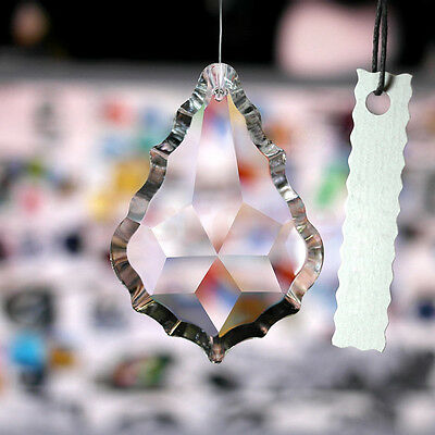 38MM Maple Clear Leaf  Chandelier Glass Lamp Prisms Parts Suncatcher Pendants