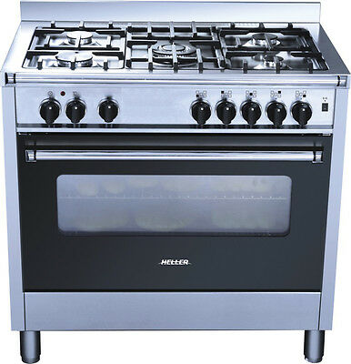 Heller 90cm Freestanding Electric Oven with Gas Hob HGH90S