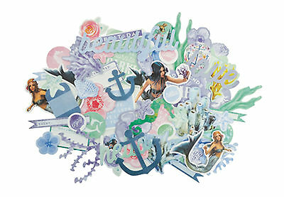 Mermaid Tails Collectables Die Cut Shapes Kaisercraft 50+ Piece Pack