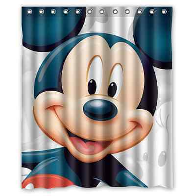 Cute Cartoon Mickey Mouse Polyester Waterproof Bathroom Shower Curtain 60 x 72