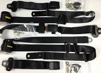 Hg Holden New Bench Seat Belt Set With Retractables And Lap Sash