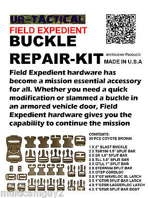 Itw Nexus Field Expedient Repair Kit Buckle, Coyote Brown, 30 Pcs Set