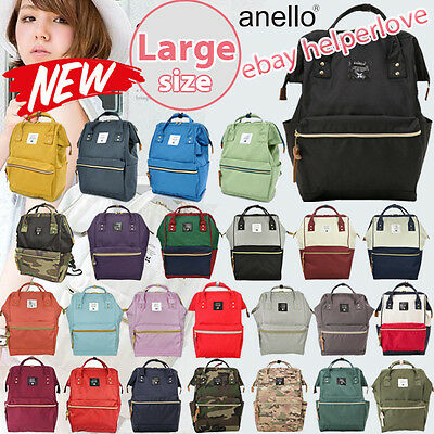 Japan Anello Original Backpack Rucksack Unisex Canvas Quality School Bag Campus