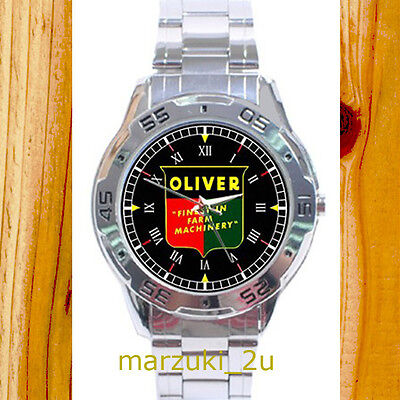 NEW RARE Oliver Tractor Classic CUSTOM CASUAL CHROME MEN'S WATCH WRISTWATCHES