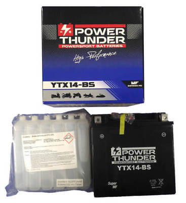 Bateria power thunder YTX14-BS sellada sin mantenimiento