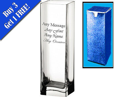 Personalised Engraved Vase Mother's Day Wedding Anniversary Birthday present