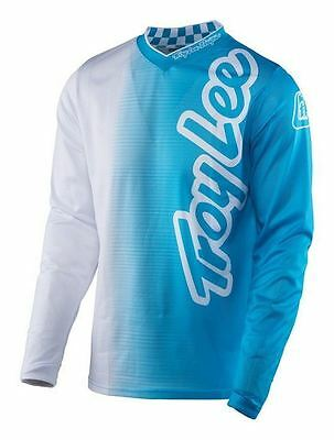 2017 Troy Lee Designs GP Air Jersey 50/50 White/Blue MX Motocross Off-Road MTB