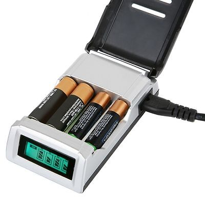 NEW  Fast Alkaline AND Ni-Mh Intelligent LCD AA and AAA Battery Charger