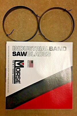 "Two- 5' 4 1/2"" (64.5"") x 1/2""-18T HEF Raker MK Morse Band Saw Blades CARBON -USA"