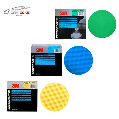 "3M Perfect-it III - 150 mm/6"" compounding & polishing machine pads - set of 3"