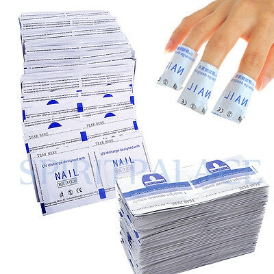 200pcs Remover Wraps For Gel Polish Acetone Pad Foil Nail Art Cleaner Removal UK