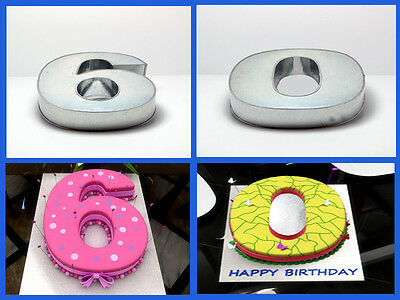"10"" Number 6 Six And 0 Zero Wedding Birthday Anniversary Cake Tins Pans"